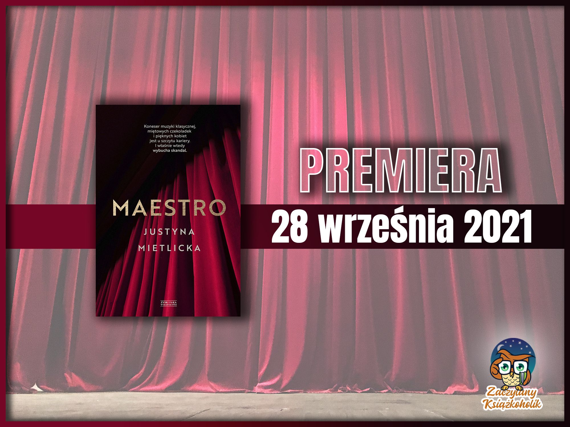 Maestro, Justyna Mietlicka, zaczytanyksiazkoholik.pl